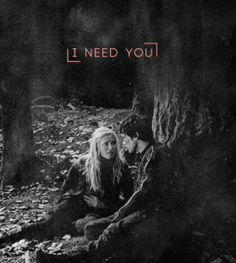 The 100 - Bellamy  Clarke #iship love this show so much