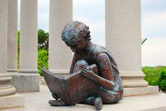 Child Reading statue at the James Whitcomb Riley gravesite - Indianapolis, IN;  photo  by clarkmaxwell, via Flickr