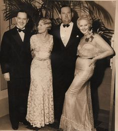 With Mrs Hal Roach and Thelma Todd in 1933