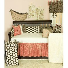 Cute baby girl bedding...an idea.