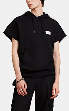 a4a615c1f3ffb0 Givenchy Men s Logo Terry Cutoff Hoodie - Black