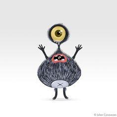 Monsters by julien canavezes, via Behance
