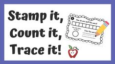 Stamp it, Count it, Trace it! Fun printable for letters A-Z to teach the alphabet, spelling and basic counting skills! A resource to use with the AlphaBOX book series. Alphabet Phonics, Alphabet Stamps, Teaching The Alphabet, Alphabet Book, Book Letters, Tracing Letters, Activity Sheets, Book Series, Spelling