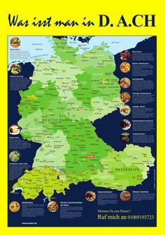 Möchtet ihr wissen? Was man in den deutschsprachigen Ländern isst? Hier ist ein vorher zweiteilges Poster, das in der Webseite von Hueber kostenlos zum Downloaden verfügbar ist! Ich habe die in einem Plakat neu gemacht! Bearbeitet von: Mortada Shendy