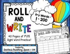Worksheets Write In Word From 101 To 200 1000 images about fry words on pinterest sight students 1 200 roll read and write word fluency game