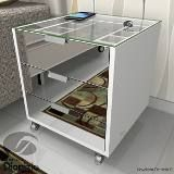 Criado Mudo Moderno Porta Joia 3 Gavetas Branco Cr05b - R$ 690,00