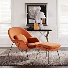 MLF® Eero Saarinen Womb Chair & Ottoman (8 Colors). Only $879 for Orange! Premium Cashmere & High Density Foam Cover on Fiberglass. High Polished Stainless Steel. All Hand Sewn. Mid-Century Scandinavian Organic Modernism Style. Curl Up & Relax in Comfort. Shop it from Amazon.com!