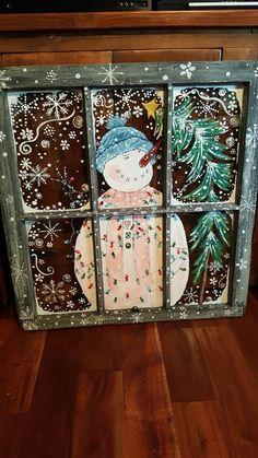 Suzysfineart.com Cute Christmas Ideas, Christmas Signs, Diy Christmas Ornaments, Christmas Snowman, Christmas Home, Christmas Holidays, Christmas Windows, Christmas Decorations, Window Art