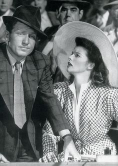Spencer Tracy and Katharine Hepburn in Woman of the Year.