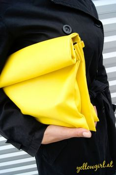 Leather Paper Bag Clutch - 25 DIY Handbags and Clutches