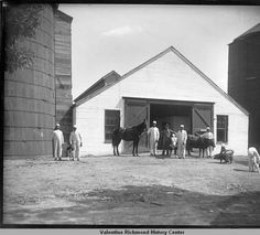 St. Emma Trade School, Belmead, Virginia - Men with Farm Animals - Date Unknown :: VCU Through the Lens of Time
