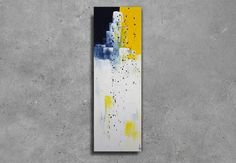 Tableau grand abstrait peinture 90 x 30 contemporain