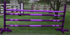 Purple horse jump. Poles need some white or very pale lavender.