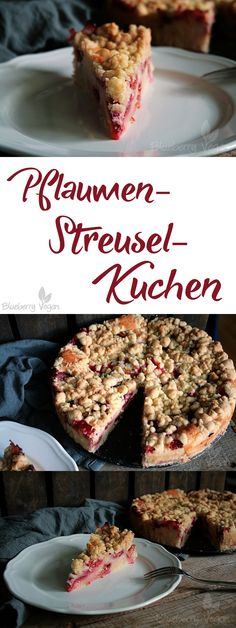 Pflaumen-Streusel-Kuchen Vegan