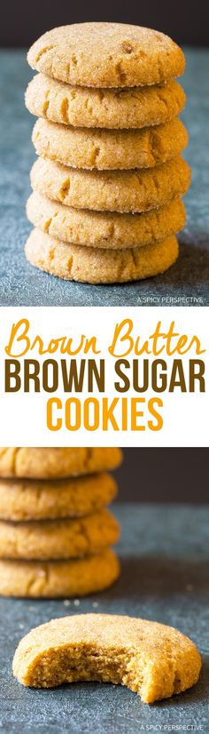 Brown Butter Brown Sugar Cookies Recipe - Rich nutty sugar cookies with intense depth of flavor. These cookies are utterly addictive! via @spicyperspectiv