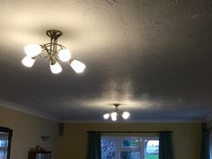 Working our way through the house. Loads to replace so one step at a time. Great, bright little golf ball bulbs - blew the previous CFL bulbs out of the water. Golf Ball, Bulbs, Track Lighting, Bright, Ceiling Lights, Led, Water, House, Home Decor