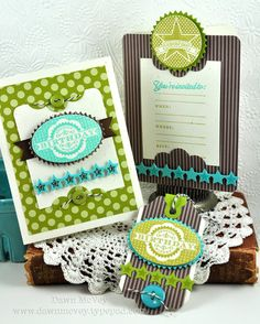 Birthday Party Ensemble by Dawn McVey for Papertrey Ink (March 2012)--Pocket card/tag