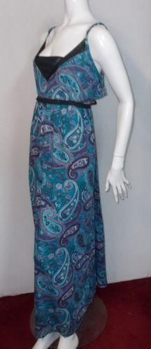 French Laundry plus size maxi dress 1x 3x 14 16 22 w 24 w paisley boho print