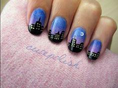 Must Do - City Skyline Nail Art!