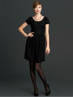 Banana Republic Mad Men Collection- I Like a simple black dress Banana Republic Women, Banana Republic Dress, Dress Me Up, New Dress, Maid Dress, Modern Outfits, Cute Outfits, Black Lace Shorts, Lace Sheath Dress