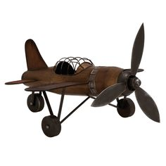 Vintage Model Replica Handcrafted Metal Airplane - Antique Bronze #UrbanDesigns