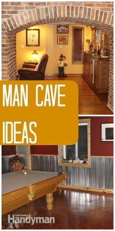 Man Cave Ideas: Get inspired to create your own perfect man cave retreat with these room #design ideas and #inspiration