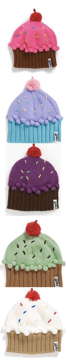 Adorable cupcake beanies  http://rstyle.me/n/dnk3qnyg6