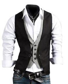 ef14475f4e3b4 Casual Slim Fit Skinny Dress Vest Waistcoat Dress Vest