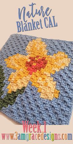 Week 1 of our FREE Nature C2C CAL crochet pattern