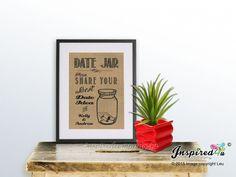 Burlap Print Date Jar Share your best date by inspiredcompany4u