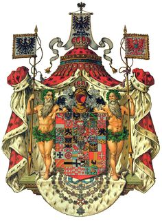 Coat of Arms Frederic I, King in Prussia January 18th, 1701 - February 25th, 1713. House of Hohenzollern.