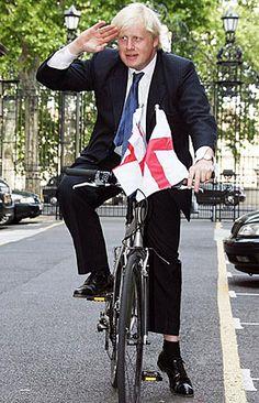 Boris Johnson. Mayor of London and he really rides