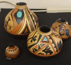 Southwestern Gourd Pots by Kristy Dial