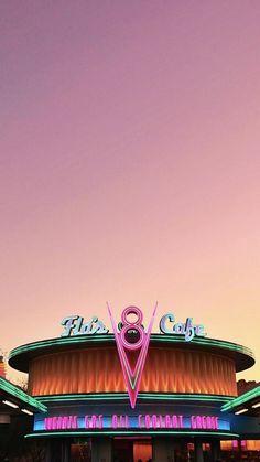 18 Ideas For Cars Movie Radiator Springs Pink Wallpaper Iphone, Animal Wallpaper, Colorful Wallpaper, Disney Wallpaper, Mobile Wallpaper, Wallpaper Backgrounds, Retro Disney, Disney Pixar, Disneyland Photography