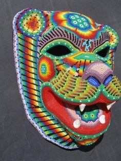 Huichol Papel Mache Jaguar Mask