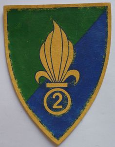 Insigne ancien patch imprimé 2° REI LEGION ETRANGERE ORIGINAL FOREIGN FFL 2 French Foreign Legion, Knights Templar, Coat Of Arms, Medieval, Patches, Military, Coats, History, Military Insignia