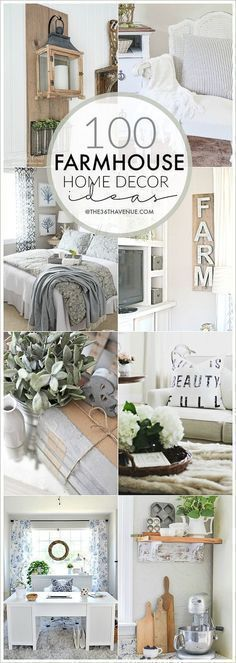 Farmhouse Decor Ideas - Beautiful DIY Home Decor that you can do. Pin it now and make it them later! #diyhomedecor