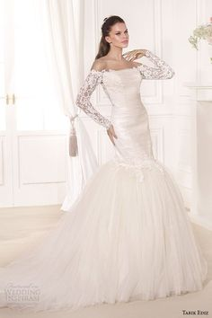Sheath Wedding Dress : Tarik Ediz White 2014 Bridal Collection  Part 1 | Wedding Inspirasi