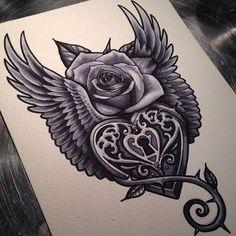 130 Stylish Key Lock, Key Tattoos And Meanings
