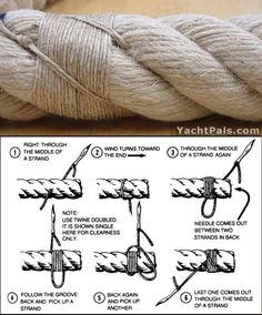 Image result for HOW TO JOIN ROPE ENDS