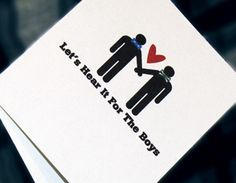gay wedding card. [esty].