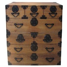 Antique Japanese Tansu | From a unique collection of antique and modern commodes and chests of drawers at http://www.1stdibs.com/furniture/storage-case-pieces/commodes-chests-of-drawers/