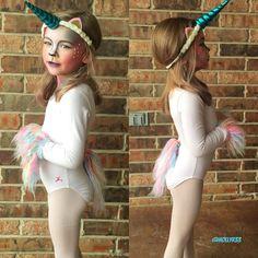 Toddler unicorn costume. Halloween costume for kids. Unicorn makeup.