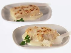 Broiled Halibut with Bechamel Sauce from FoodNetwork.com I made this last night and all I can say is OMG!!!  <3
