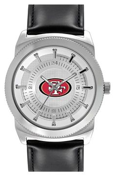 Men's Game Time Watches 'NFL Vintage - San Francisco 49ers' Faux Leather Strap Watch