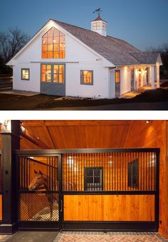 A horse lover's paradise. We love this barn.