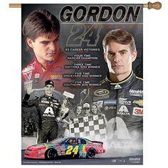 "cool NASCAR Jeff Gordon Retirement Vertical Flag, 27 x 37"" Check more at http://jeffgordoncollectibles.com/product/nascar-jeff-gordon-retirement-vertical-flag-27-x-37/"