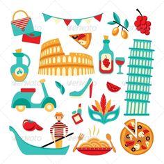 Italy Decorative Set  #graphicriver