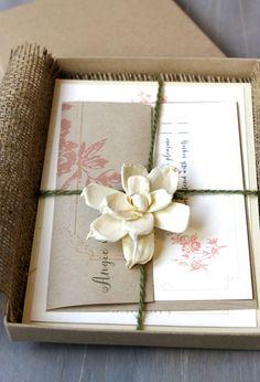 peach and gray burlap wedding invitations #stationery #wedding #invitations #peach #rustic #burlap https://www.etsy.com/listing/113259510/burlap-wedding-invitations-peach-wedding?ref=related-4