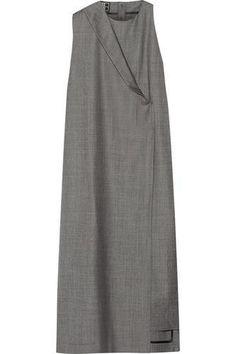 Draped wool-gabardine midi dress #dress #women #covetme #1205